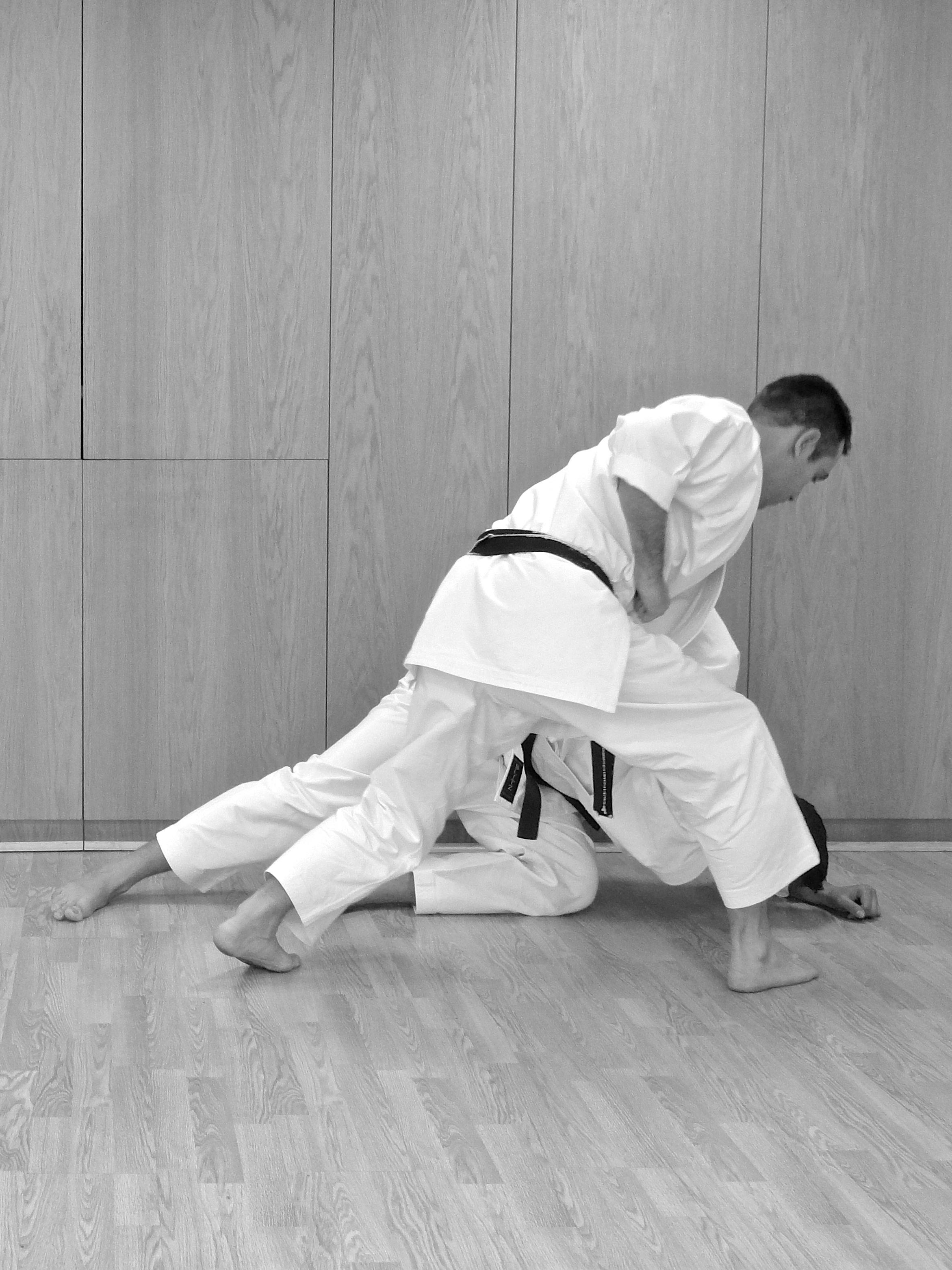John Titchen Karate session