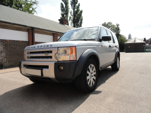 Picture of a silver Land Rover
